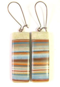 Southwest Landscapes Series - Abiquiu Polymer Clay Earrings by DivaDesigns1 (Lynda Moseley)