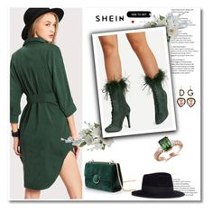 """SheIn contest!"" by ella2309 ❤ liked on Polyvore featuring Maison Michel and Dolce&Gabbana"