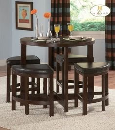 5-Piece Counter Height Set of Brussel Ii Collection by Homelegance $451.43