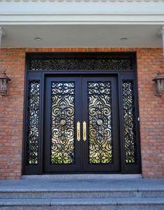 Gorgeous Iron Doors Ideas to Make Your Entrance Look Beautiful Pooja Room Door Design, House Gate Design, Door Gate Design, Main Entrance Door Design, Wooden Front Door Design, Iron Front Door, Grill Door Design, Wrought Iron Doors, New York