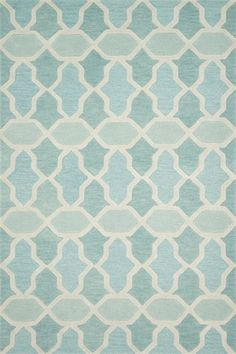 The Aqua Lattice Weston Rug from Loloi Rugs will make a great addition to your child's room.  A stylish area rug is the perfect way to create a warm and inviting living space!