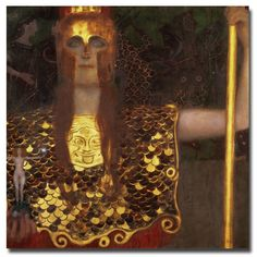 Minerva by Gustav Klimt Painting Print on Canvas