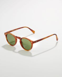 Oliver Peoples  Gregory Peck Sunglasses, Matte Carretto