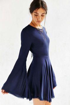 f4a02c1e1738e Ecote Sascha Bell Sleeve Dress Grunge Goth