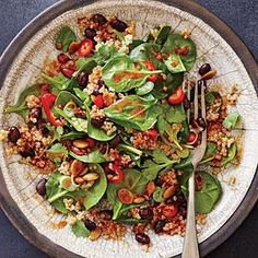 "I LOVE this Spicy Bean and Quinoa Salad with ""Mole"" Vinaigrette on MyRecipes.com"