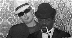 Jerry Dammers & Neville Staples of The Specials Music Icon, My Music, Jerry Dammers, British Style, British Fashion, Billy Bragg, Skinhead Fashion, Pork Pie Hat, Le Smoking