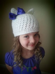 MLP Rarity Crochet Pony Hat with removable by LaSorellaBoutique, $35.00