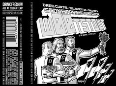 Here's your first look at the 2015 packaging as Stone Farking Wheaton returns. This Drew Curtis / Wil Wheaton / Greg Koch c. Bottle Labels, Beer Labels, All Beer, Label Design, Good People, Art Forms, Liquor, Brewing, Alcoholic Drinks