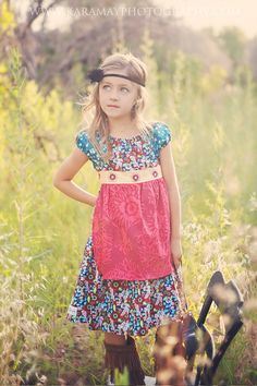 Childrens Girls Peasant Apron Dress NEW FW by KaitEmersonDesigns, $62.00