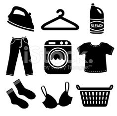 laundry icons royalty-free stock vector art