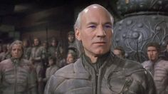 """Dune, 1984 - desert suits recycle fluids extending travel into hostile climates. Patrick Stewart as Gurney Halleck wearing """"the most uncomfortable costume ever"""". Frank Herbert, Fiction Movies, Science Fiction, Dune Characters, Dune Film, Boba Fett Costume, Four Movie, Very Demotivational, Movies"""