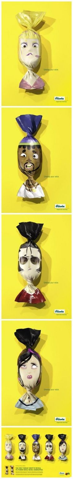 Interesting throat drop packaging