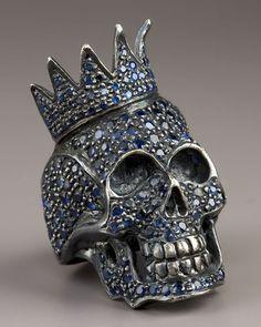 ShopStyle: Jessica Kagan Cushman Sapphire Skull Ring