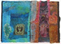 Victoria Crowe. 'Shrine Deep in the Jungle'. Mixed media. (The Scottish Gallery. Edinburgh)