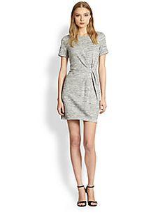 Tibi - Gathered Tweed Dress
