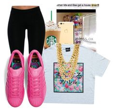 """""""Untitled #137"""" by oh-thatasia ❤ liked on Polyvore featuring xO Design and adidas Originals"""