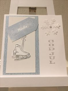 wintercard, christmascard in blir and white
