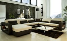 2014 Hot Sale Modern big white U-shaped genuine leather round Corner Sofa Best living room sofa 9119 - from Alibaba.com