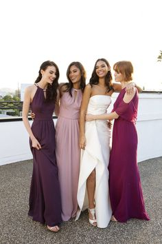 Plum Quartz And Fuchsia Bridesmaid Dresses Are Beautiful Wedding Color Pairings All Year Round These Exclusively At David S Bridal