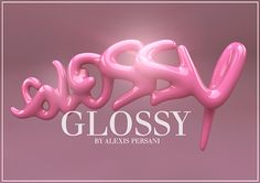 Glossy 3D type / typography