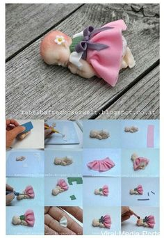 How to make a gumpaste baby - Picture