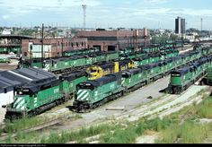 RailPictures.Net Photo: 5912 Burlington Northern Railroad GE U30C at Denver, Colorado by John Rus