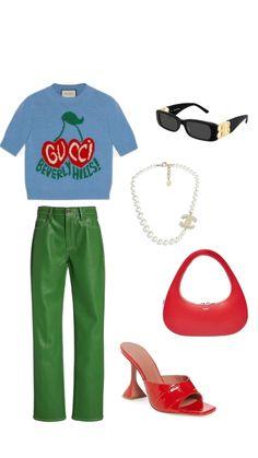 Swag Outfits, Retro Outfits, Trendy Outfits, Cool Outfits, Fashion Outfits, Womens Fashion, Mix Style, Clothing Items, Streetwear Fashion