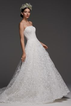 Watters showed their latest wedding dresses at Bridal Fashion Week. See Watter's fall 2018 wedding dresses here Princess Wedding Dresses, Perfect Wedding Dress, Bridal Wedding Dresses, Designer Wedding Dresses, Wedding Bride, Bridal Style, Wedding Ideas, Lace Wedding, Wedding Wishes