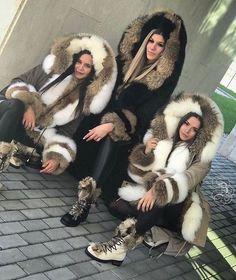 Faux Fur Hooded Coat, Faux Fur Jacket, Fox Fur Coat, Parka Coat, Fluffy Coat, Womens Parka, Winter Coats Women, Fur Fashion, Mantel