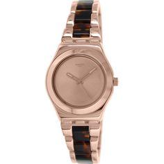 Swatch Women s Irony YLG128G Rose Stainless Steel Swiss Quartz Watch Rose  Watch 1fb7573664d