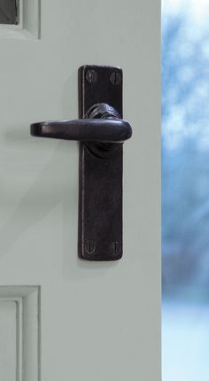 The Smooth Sprung Lever Handles Are The Simplest Of Handle Designs In Our  Collection And Only Available In The Black Finish.