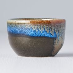This sake bowl is hand made, therefore each piece is original. Deep blue colour transforms into earthy and black colour tones which evokes feeling of a deep forest lake. This bowl is used for a traditional japanese drink sake. Japanese Drinks, Modern Asian, Deep Forest, Earthy, Decorative Bowls, Blue, Europe, Beautiful, Color