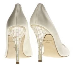 Divine Mother of Pearl heel ... Della Sky by Freya Rose