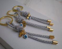 Luxury martyrika-Evil eye martyrika -Key chains Baptism Favors- Gold and blue martyrika-formal style martirika Christening Favors, Baptism Favors, Baby Shower Favors, Nautical Baptism, Evil Eye, Key Rings, Key Chains, Etsy, Luxury