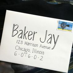 Items similar to Custom Envelope Calligraphy for Wedding - Party - Event: Baker Jay Print Font on Etsy Envelope Art, Envelope Lettering, Envelope Labels, Do It Yourself Wedding, Addressing Envelopes, Addressing Letters, Letter Writing, Mail Writing, Mail Art