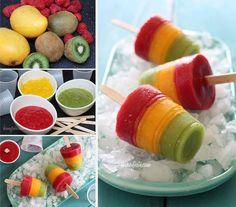 palñetas de kiwi mango y fresa