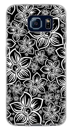 {Assorted Hibiscus Flowers} Soft and Smooth Silicone Cute 3D Fitted Bumper Back Cover Gel Case for Samsung Galaxy S6 {Color is Black and White}