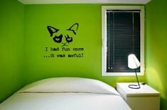 Grumpy cat - I had fun once ...it was awful Decal von Wall Stickers auf DaWanda.com