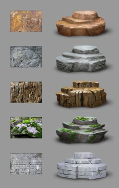 Material study - rocks from MittMac rock stone moss earth marble auxiliary . - Material Study – Rocks from MittMac Rock Stone Moss Earth Marble Tool Instructions Digital Painting Tutorials, Digital Art Tutorial, Art Tutorials, Drawing Tutorials, Concept Art Tutorial, Environment Concept Art, Environment Design, Game Environment, Minecraft Decoration