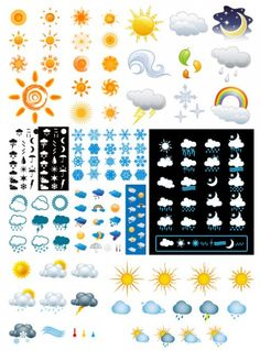 Weather icon vector and jpeg .. FREE I just downloaded it and I am using it for a Kiddo Weatherboard. #printables