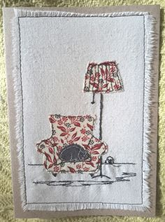 This, that and everything inbetween Diy Embroidery By Hand, Cushion Embroidery, Freehand Machine Embroidery, Free Motion Embroidery, Embroidery Applique, Card Patterns, Applique Patterns, Applique Quilts, Fabric Cards