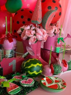 Watermelon Birthday, Fruit, Cake, Party Ideas, Food, Pie Cake, Meal, The Fruit, Cakes