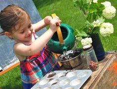 Having a lot of rain? Make a mud kitchen with your kids this summer!