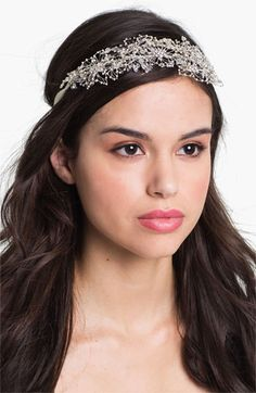 Cute Head Wrap, instead of a tiara. Tasha Crystal Beaded Head Wrap available at #Nordstrom #nordstromweddings