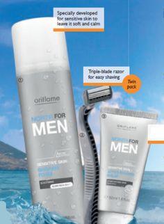North For Men Sensitive Skin Shaving Set - North For Men - Skin Care - Shop for Oriflame Sweden - Oriflame cosmetics –UK & USA - Oriflame North For Men Sensitive Skin Shaving 480988 |orinet/mens body care
