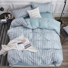 8 Cheap Things to Maximize a Small Bedroom . King Bed Linen, Bed Linen Sets, King Beds, Bed Sets, Soft Duvet Covers, Duvet Cover Sets, Bed Covers, Cute Bed Sheets, Modern Bed Sheets