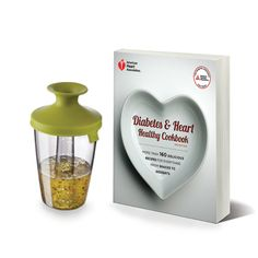 "This healthy living kit includes ""#Diabetes & Heart Healthy #Cookbook, 2nd Edition,"" and a Popsome Flavour Dressing and Marinade and Shaker."