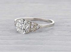 1.30 Carat Art Deco Engagement Ring
