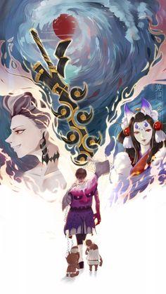 Onmyoji Game, Random Pictures, Character Design, Fandoms, Manga, Anime, Dibujo, Sleeve, Manga Anime