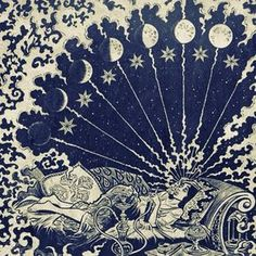 All Things Esoteric /Occult/Witchcraft and a Healthy Dose of Rock and Roll/Art Nouveau/Illustration/Vintage & Literary Erotica & Underground Countercultures + David Bowie is My Religion: I'm Just a Space Cadet. Art And Illustration, Flower Illustrations, Arte Inspo, Art Nouveau, Psy Art, Alphonse Mucha, Art Graphique, Psychedelic Art, Moon Child